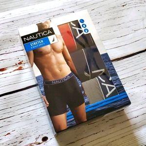 🆕️ NAUTICA MEN'S 3 PACK STRETCH BOXER BRIEFS
